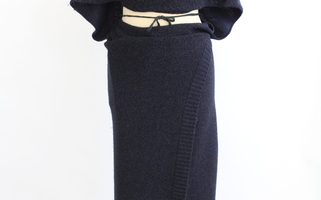 Maison Martin Margiela knit wrap dress